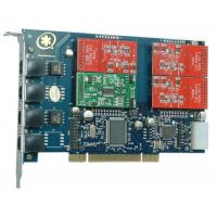 China TDM41OP 4Port 3FXO&1FXS Asterisk Card for Call Center wholesale