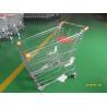 China Retail Store Steel Wheeled Shopping Cart 180 L Basket Bottom Rack wholesale
