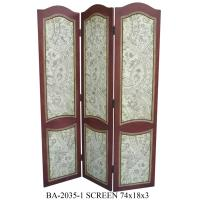China Rubber Wood Gilding Tri Fold Screen Room Divider For Restaurant wholesale