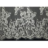 "Buy cheap French Non Stretch 60"" Eyelash Decorative Lace Trim White Lady Top Floral from wholesalers"