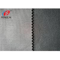 China Waterproof Black Soild Color Twill Fabric 90 Polyester 10 Spandex For Garment on sale