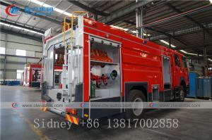 China Sinotruk HOWO 4X2 6000liters 6cbm Water and Foam Tank Fire Fighting Truck wholesale