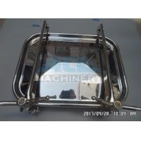 China Industrial Stainless Steel Food Production Used Tank Manhole Rectangle Manhole wholesale