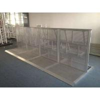 China Safety Concert Crowd Control Barriers Silvery / Black Color Easy Assemble wholesale