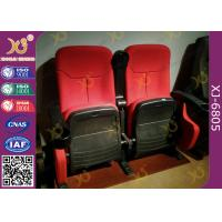 China Dirty Proof Red Fabric Cinema Theater Chairs Seating With Foldable Seating Padding on sale