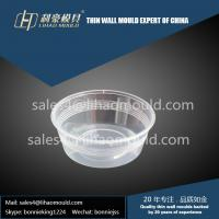 China 350ml PP disposable salad thin walled container with texture mould solution supplier on sale