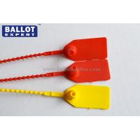 Buy cheap Red / Yellow Number  Indicator PP Plastic Security Seals For Cash Bank Bag product