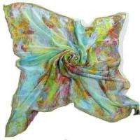 China Digital Printing Silk Square Scarf (HP-C02) wholesale