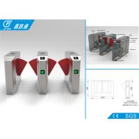 China IC / ID / Bluetooth Card Turnstile Security Systems , Intelligent Control Half Height Turnstile wholesale