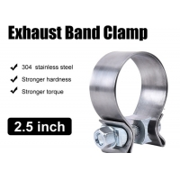 """China Catalytic Converter Repair Parts 2.5"""" Narrow Band Clamp For Exhaust Tip wholesale"""
