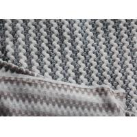 Buy cheap Cationic Jacquard Flannel Fleece Fabric For Bedding / Curtain product