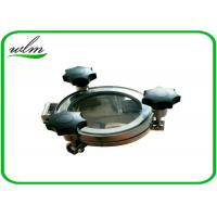 Quality Sight Glass Stainless Steel Manhole Cover High Pressure Elliptical Shaped for sale