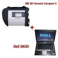 Quality V2012.11 MB SD Connect Compact 4 Mercedes Diagnostic Tool with DELL D630 Laptop for sale