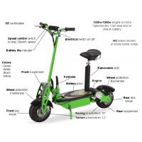 China Green Folding Electric Mobility Scooter Lightweight With Lead Acid / Lithium Battery wholesale