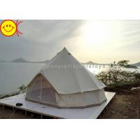 China Outdoor Inflatable Tent Waterproof Cotton Canvas Family Camping Bell Tent Indian Teepee Tent wholesale