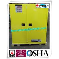 China Vertical Corrosive Chemical Storage Cabinets 60 Gallon For Flammable Materials wholesale