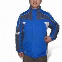 China Ski/Winter Jacket with 100% Polyester Lining, Tape Seam, Waterproof and Breathable wholesale