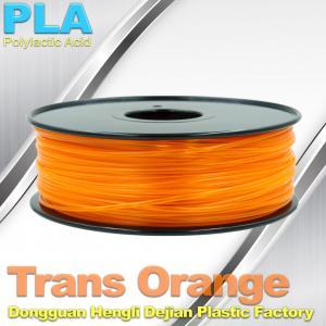 China 1.75mm /  3.0mm Trans Orange PLA 3D Printer Filament Colors 1KG / Roll wholesale