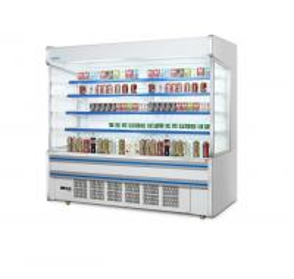 Supermarket Refrigeration Equipment Multideck Open Chiller Curve Glass