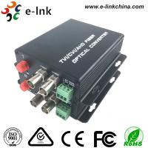 China PTZ Control AHD CVI TVI Over Fiber Converter 2CH1080P Video 1CH Backward Data RS485 wholesale