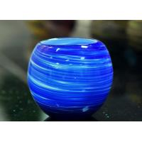 China Luxury Hand Made Coating Candle Holders Glass For Decoration , Round Ball Shape wholesale