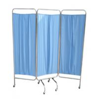 China 3 Folding Stainless Steel Ward Screen Hospital Furniture Bed Ward Folding Screen wholesale