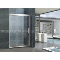 China Mirror Color Finished 304 Stainless Shower Boxes With Frame Inline Two Sliding Doors wholesale