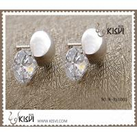 China 100% 925 fashion sterling silver gemstone earrings with zircon W-AS1005 wholesale