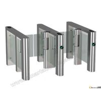 Buy cheap 316 stainless steel RFID access remote control system security glass gate new style speed barriers gate product
