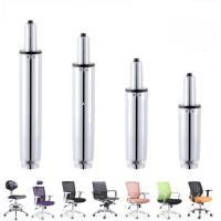 China Chair 120MM chrome Hydraulic gas spring / Gas Lift Spring 360 Degree Rotation wholesale