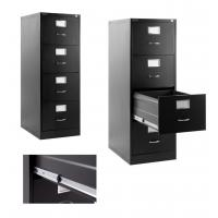 China Black Metal Lateral File Cabinet 4 Drawer For Office , Home, Warehouse wholesale