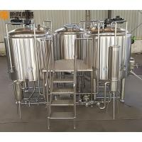 China 10HL Brewhouse Equipment Electricity / Steam / Gas Heating For Beer Brewing wholesale