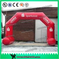 China Logo Printing Dragon Shaped Red Inflatable Arch Archway 7 * 4m Custom Inflatable Arch wholesale