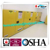 China Fireproof Flammable Safety Cabinets Three Points Linked Lock For Dangerous Goods wholesale