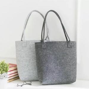 China Free Sample Lowest MOQ High Quality Big Tote Bag Shopping Felt Handbags. size is 35cm*30cm 2mm microfiber material. wholesale