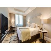China High Grade Leather Hotel Bedroom Furniture Sets King Size With Plywood Customized wholesale