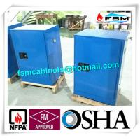 China Blue Chemical Corrosive Storage Cabinets 12 GAL With Door for Acid Liquid wholesale