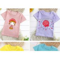 China Breathable Short Sleeve Crew Neck T Shirt 100% Cotton For Children on sale