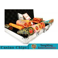 China 10,000Pcs 11.5g Clay Poker Chip Sets With Aluminum Case For Gambling Games wholesale