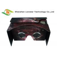 China 3.5-6.0 Inch Cell Phone Cardboard VR Viewer Waterproof With Two Sides Printing wholesale