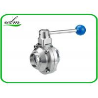 China High Sanitary Ball Valves , Stainless Steel Butterfly Valve For Beverage Industry wholesale