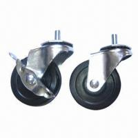 Caster and stem, 40mm swivel radius