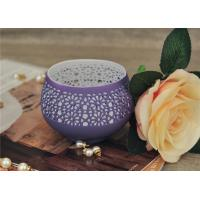 China Colored Ceramic Pumpkin Candle Holder Anti Impact SGS Certification wholesale