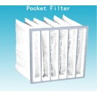 China Non Dust Room G4 Pocket Air Filter Bag 592mm Width With High Dust Holding wholesale
