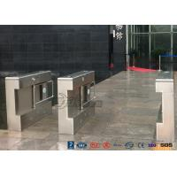 China Gym Electronic Stainless Steel Turnstile Double Swing IP 54 LED Indicator wholesale