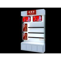 China Perspex Retail Floor Display Cosmetic Storage Organizer White With Drawer wholesale