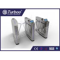 China Mechanism Stainless Steel Flap Barrier Turnstile With RFID Card Reader wholesale