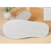 China Grey Closed Toe Disposable Hotel Slippers Terry Towel Extra Size on sale