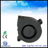 China 51mm Plastic DC Centrifugal Fan  5v 12v 24v Black For Car with Dual Ball Bearing on sale