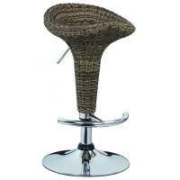 China Contemporary French Bistro Bar Stools Rattan Bar Chairs 385 * 1.2mm Base wholesale